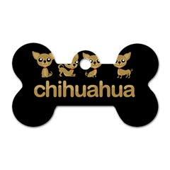 Chihuahua Dog Tag Bone (two Sides)