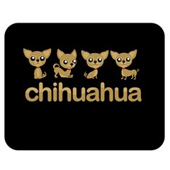 Chihuahua Double Sided Flano Blanket (medium)  by Valentinaart