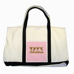 Chihuahua Two Tone Tote Bag by Valentinaart