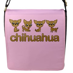 Chihuahua Flap Messenger Bag (s)