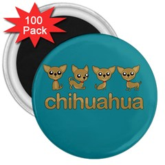 Chihuahua 3  Magnets (100 Pack) by Valentinaart