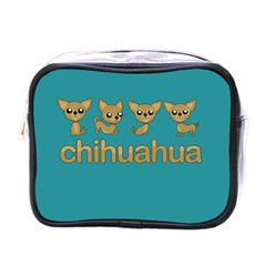 Chihuahua Mini Toiletries Bags by Valentinaart