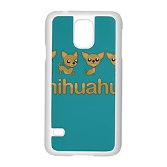 Chihuahua Samsung Galaxy S5 Case (white) by Valentinaart