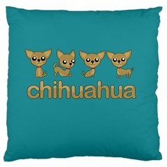 Chihuahua Standard Flano Cushion Case (one Side) by Valentinaart
