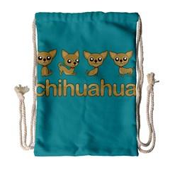 Chihuahua Drawstring Bag (large) by Valentinaart
