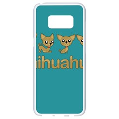 Chihuahua Samsung Galaxy S8 White Seamless Case by Valentinaart