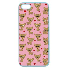 Chihuahua Pattern Apple Seamless Iphone 5 Case (color) by Valentinaart