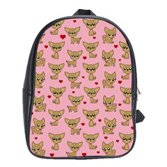 Chihuahua Pattern School Bag (xl) by Valentinaart