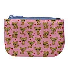 Chihuahua Pattern Large Coin Purse by Valentinaart