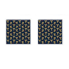 Chihuahua Pattern Cufflinks (square) by Valentinaart