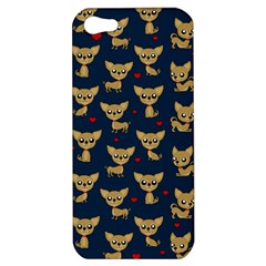 Chihuahua Pattern Apple Iphone 5 Hardshell Case by Valentinaart