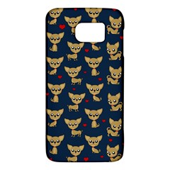 Chihuahua Pattern Galaxy S6 by Valentinaart
