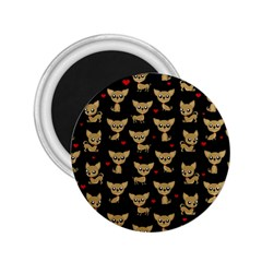 Chihuahua Pattern 2 25  Magnets by Valentinaart