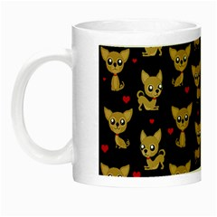 Chihuahua Pattern Night Luminous Mugs by Valentinaart