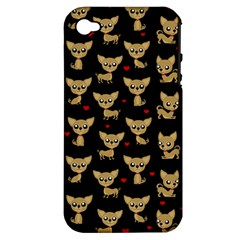 Chihuahua Pattern Apple Iphone 4/4s Hardshell Case (pc+silicone) by Valentinaart