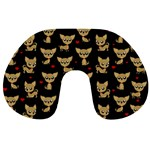 Chihuahua pattern Travel Neck Pillows Back