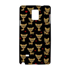 Chihuahua Pattern Samsung Galaxy Note 4 Hardshell Case by Valentinaart