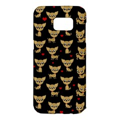 Chihuahua Pattern Samsung Galaxy S7 Edge Hardshell Case by Valentinaart
