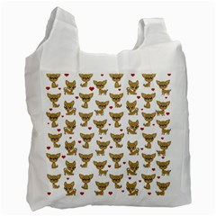 Chihuahua Pattern Recycle Bag (one Side) by Valentinaart
