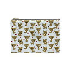 Chihuahua Pattern Cosmetic Bag (medium)  by Valentinaart