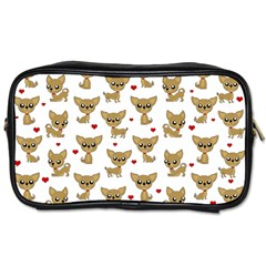 Chihuahua Pattern Toiletries Bags by Valentinaart