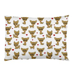 Chihuahua Pattern Pillow Case (two Sides) by Valentinaart