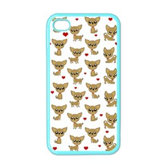 Chihuahua Pattern Apple Iphone 4 Case (color) by Valentinaart