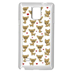 Chihuahua Pattern Samsung Galaxy Note 4 Case (white) by Valentinaart
