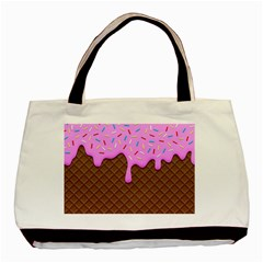 Chocolate And Strawberry Icecream Basic Tote Bag by jumpercat