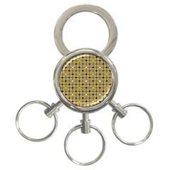 Persian Blocks Desert 3 Ring Key Chains
