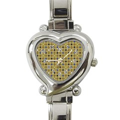 Persian Blocks Desert Heart Italian Charm Watch by jumpercat
