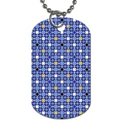 Persian Block Sky Dog Tag (two Sides) by jumpercat