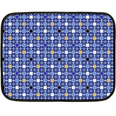 Persian Block Sky Fleece Blanket (mini) by jumpercat