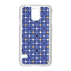 Persian Block Sky Samsung Galaxy S5 Case (white) by jumpercat