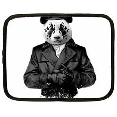 Rorschach Panda Netbook Case (xxl)  by jumpercat