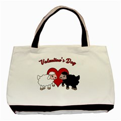 Valentines Day   Sheep  Basic Tote Bag by Valentinaart