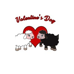 Valentines Day   Sheep  Shower Curtain 48  X 72  (small)  by Valentinaart