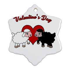 Valentines Day   Sheep  Ornament (snowflake) by Valentinaart