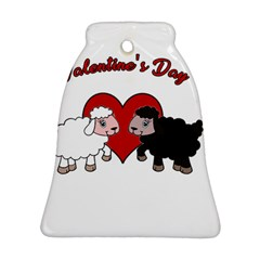 Valentines Day   Sheep  Bell Ornament (two Sides) by Valentinaart