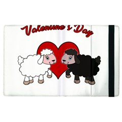 Valentines Day   Sheep  Apple Ipad 3/4 Flip Case by Valentinaart