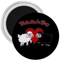 Valentines Day   Sheep  3  Magnets by Valentinaart