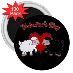 Valentines Day   Sheep  3  Magnets (100 Pack) by Valentinaart