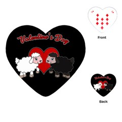 Valentines Day   Sheep  Playing Cards (heart)  by Valentinaart