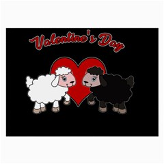 Valentines Day   Sheep  Large Glasses Cloth by Valentinaart