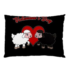 Valentines Day   Sheep  Pillow Case by Valentinaart