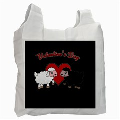 Valentines Day   Sheep  Recycle Bag (one Side) by Valentinaart
