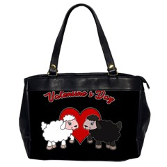 Valentines Day   Sheep  Office Handbags (2 Sides)  by Valentinaart