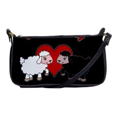 Valentines Day   Sheep  Shoulder Clutch Bags by Valentinaart