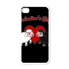 Valentines Day   Sheep  Apple Iphone 4 Case (white) by Valentinaart