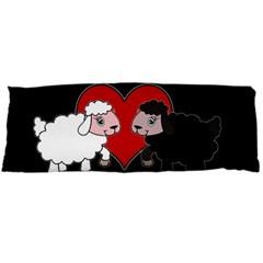 Valentines Day   Sheep  Body Pillow Case Dakimakura (two Sides) by Valentinaart